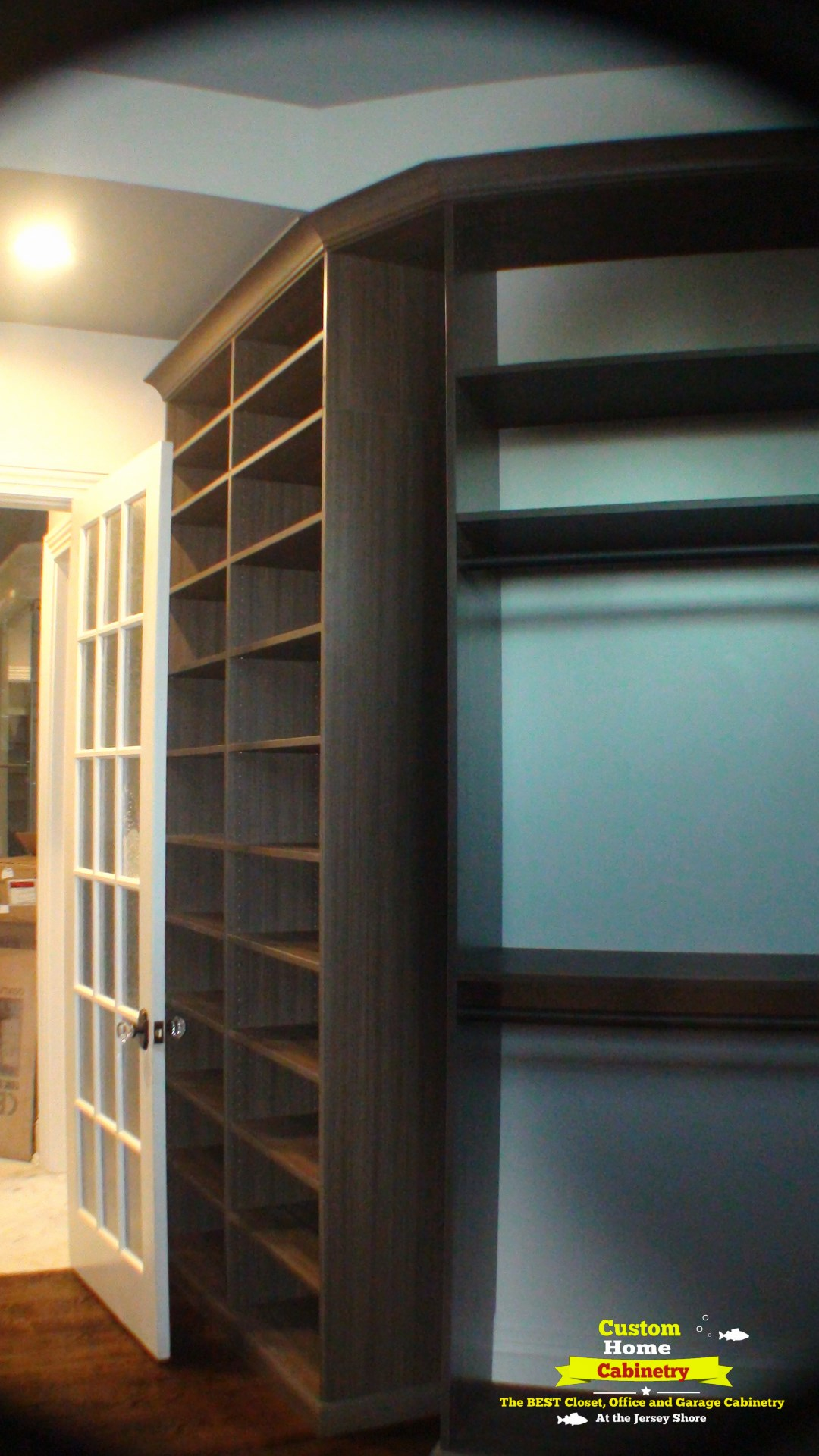 9.5-Ft.-Tall-Custom-Closet-in-Studio-Teak