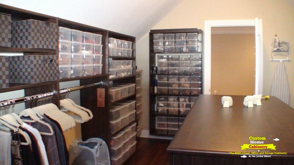Espresso-Walk-In-Closet-Organizer-Angled-Ceilings